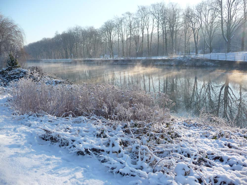 Schneespaziergang am Datteln-Hamm-Kanal