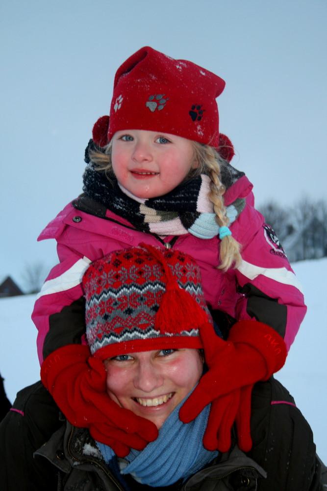 Schneetag mit der Lieblingstante!!!