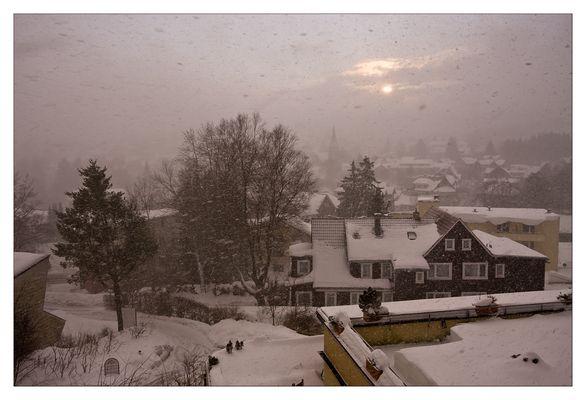 Schneetreiben über Braunlage