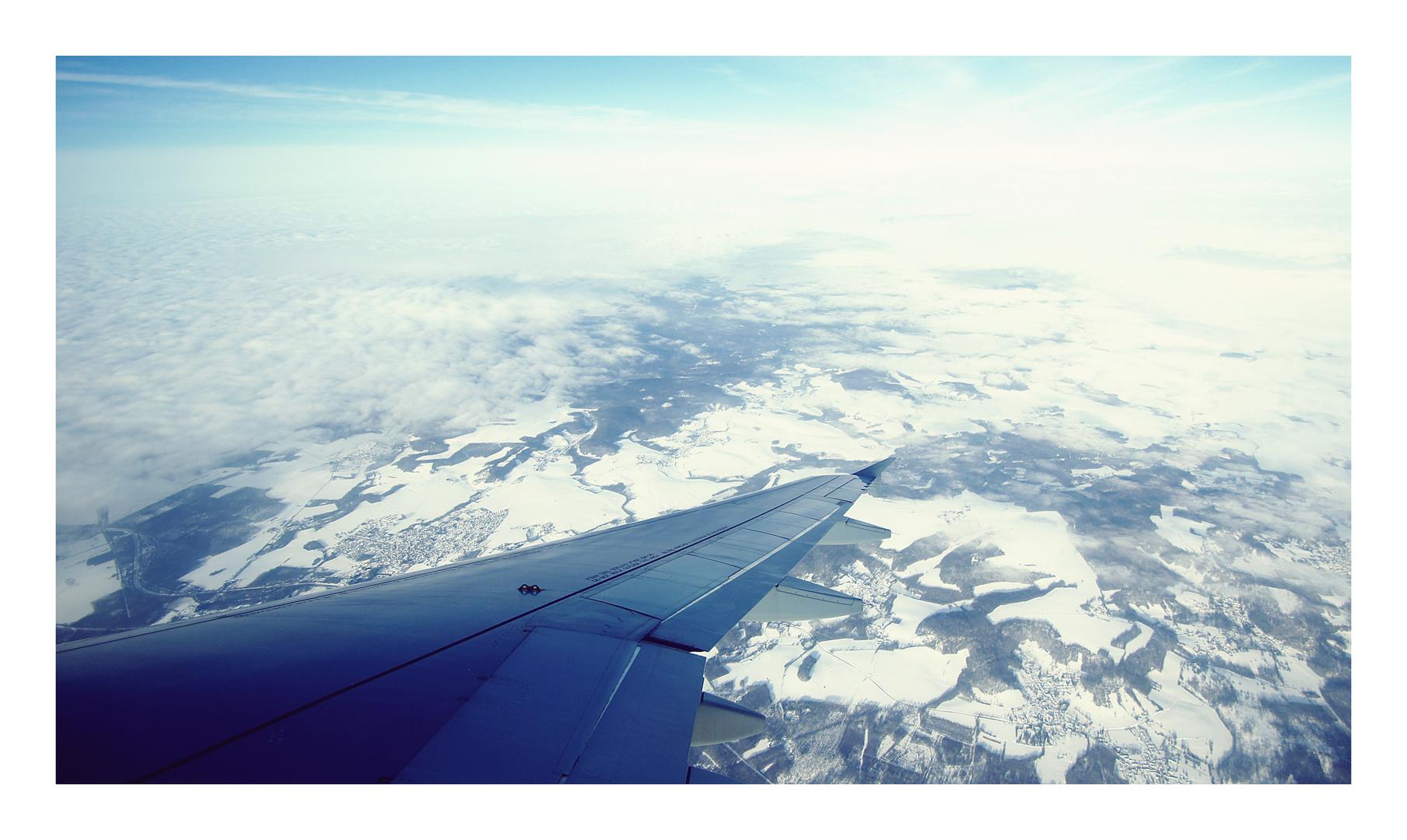 schneewolken...