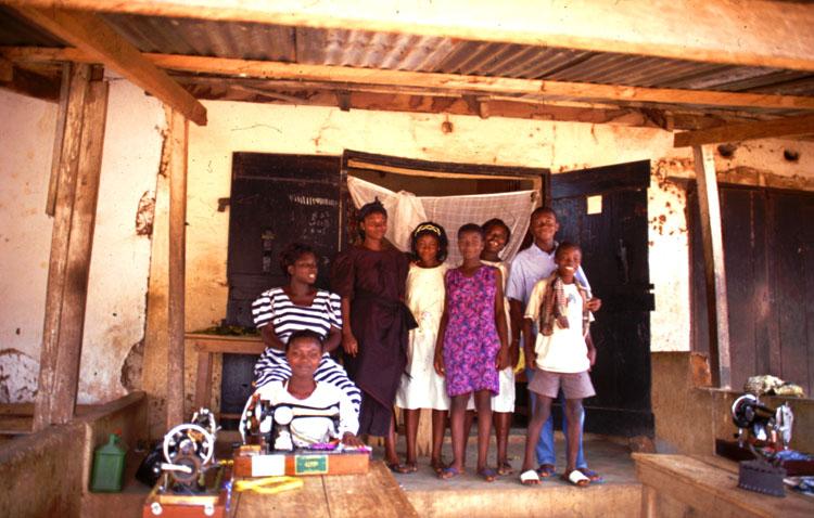 Schneiderwerkstatt in Konongo