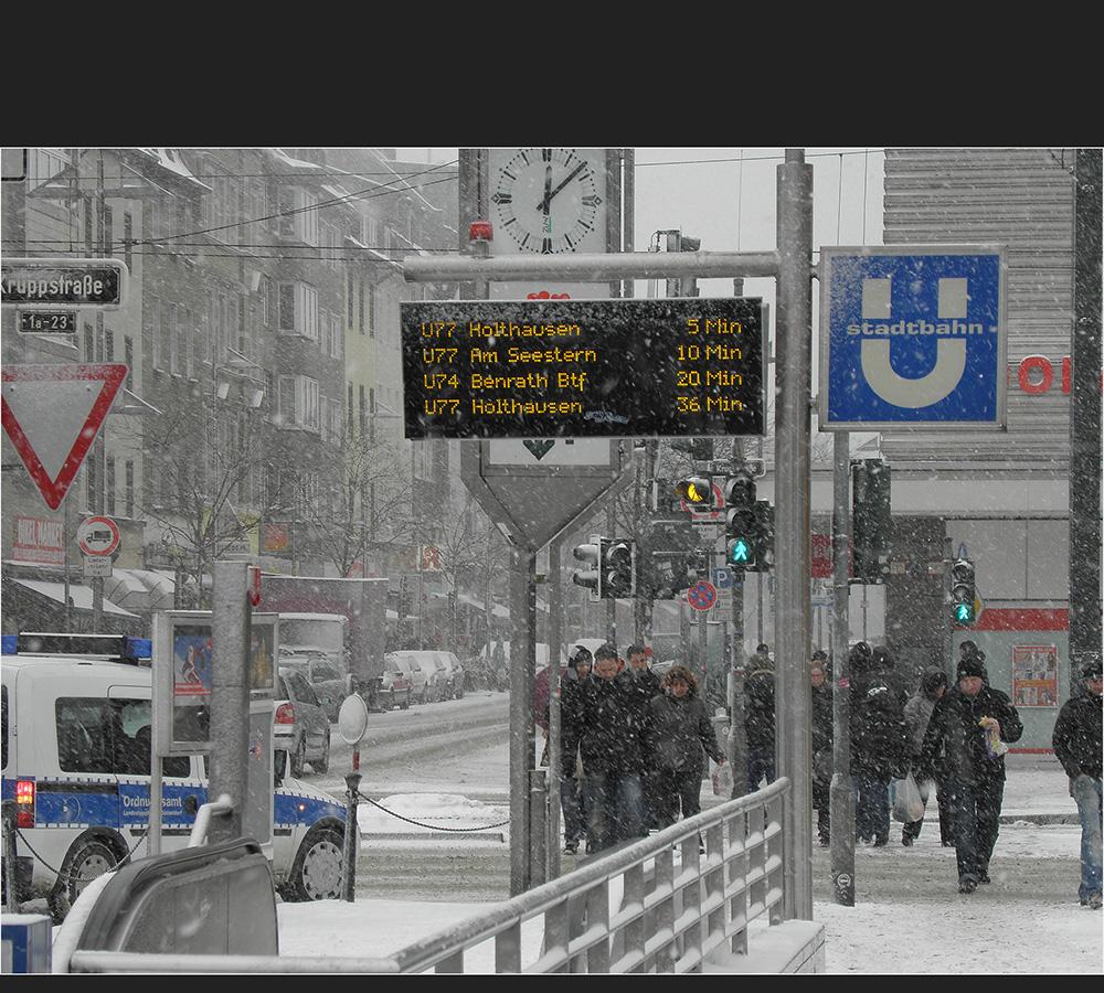 Schnell in die U-Bahn