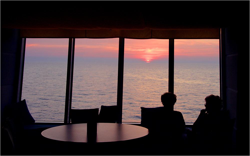 schnell noch mal 'nen Sonnenuntergang fotografiert