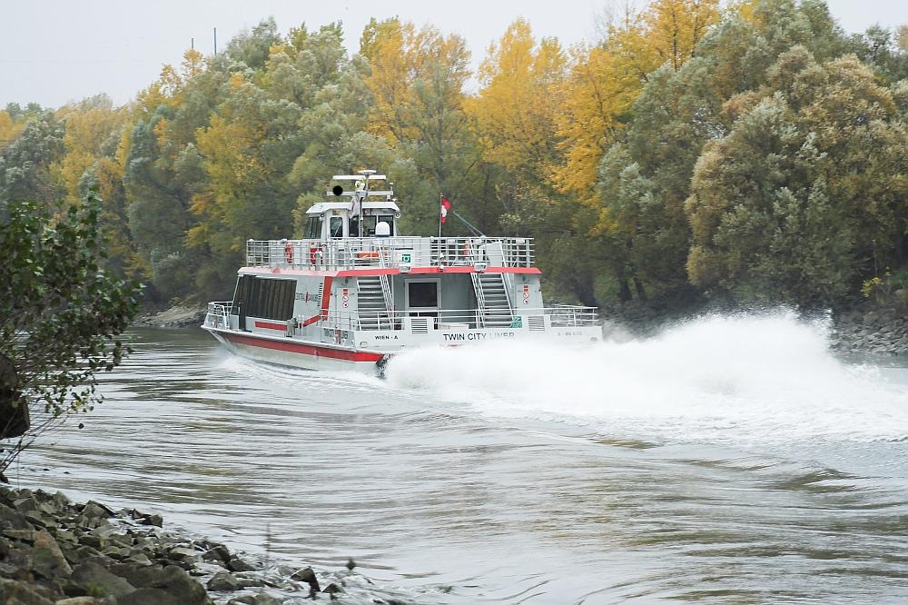 Schnellboot im Donaukanal