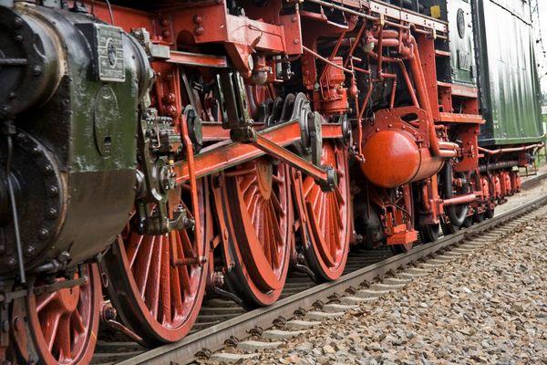 Schnellzuglok 01 1066 - Nahaufnahme