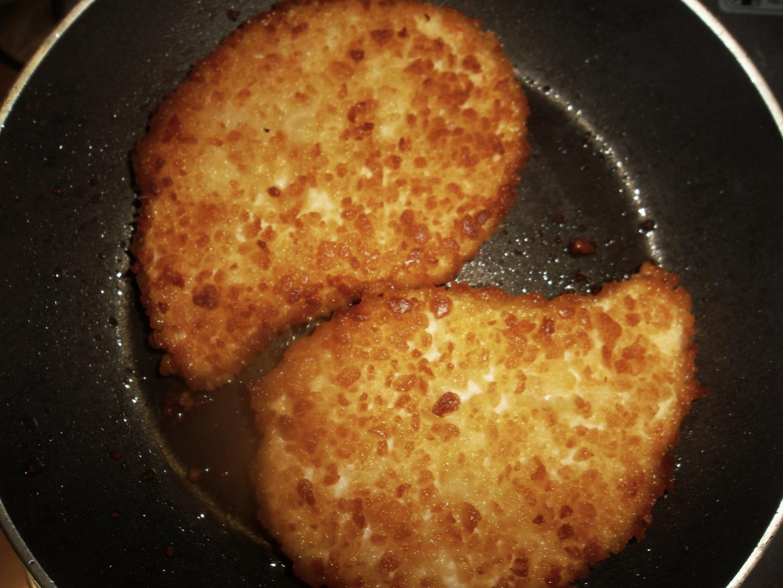 Schnitzel fleischfrei ! aus Milch und Getreide und lecker...