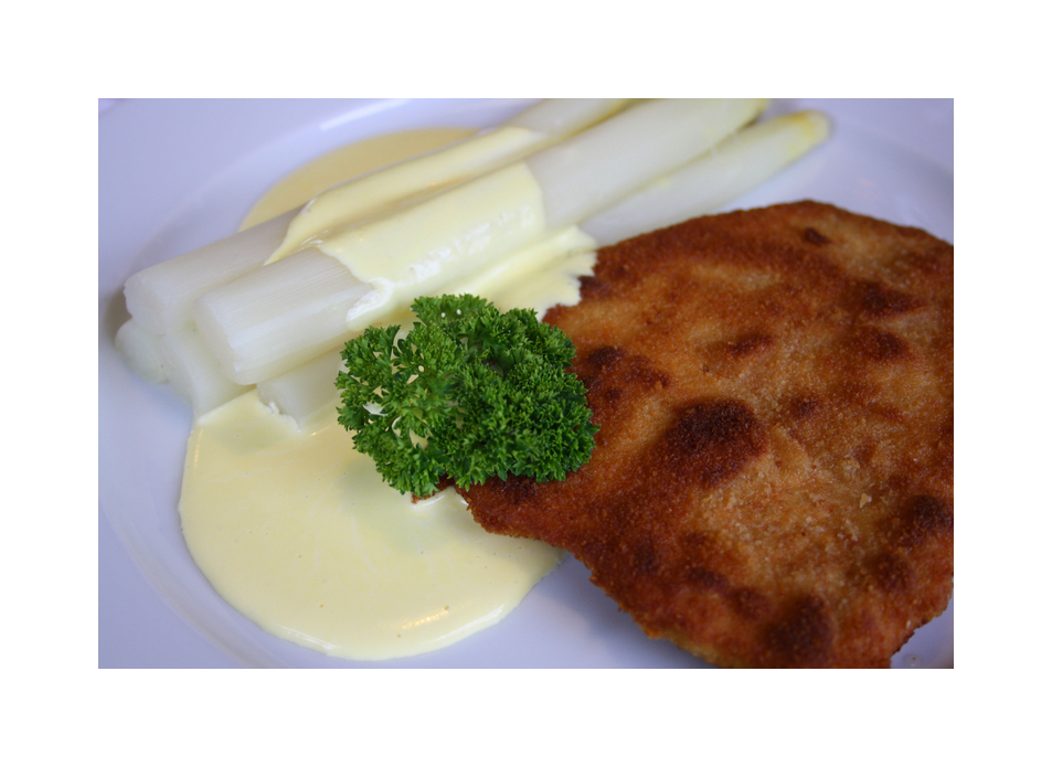 Schnitzel mit Spargel...