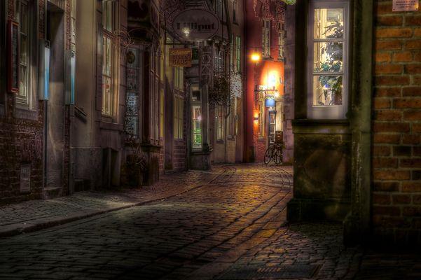 Schnoor bei Nacht 3