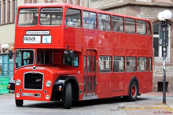 schön, dass er wieder fährt - Londonbus der Göttinger Verkehrsbetriebe