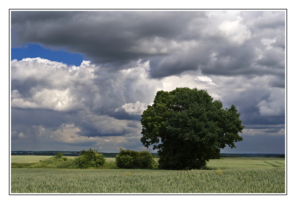 schön wolkig