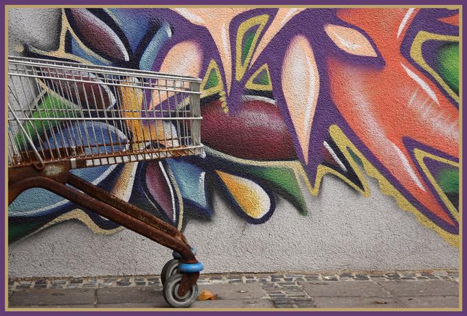 Schöne bunte Einkaufswelt?