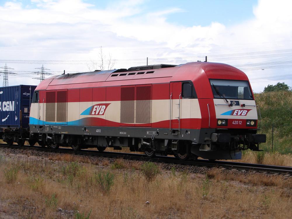 Schöne bunte Eisenbahn.