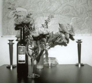 Schöne Dinge des Lebens... Wein und Blumen