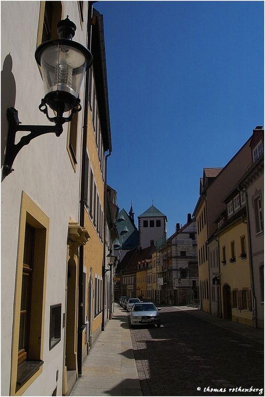 Schöne Gasse in Freiberg