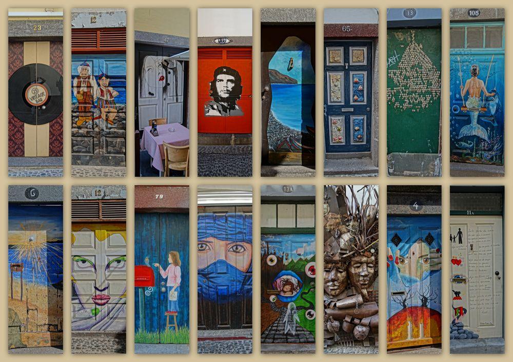 Schöne türen  schöne Türen zieren Funchals Altstadt Foto & Bild | madeira ...