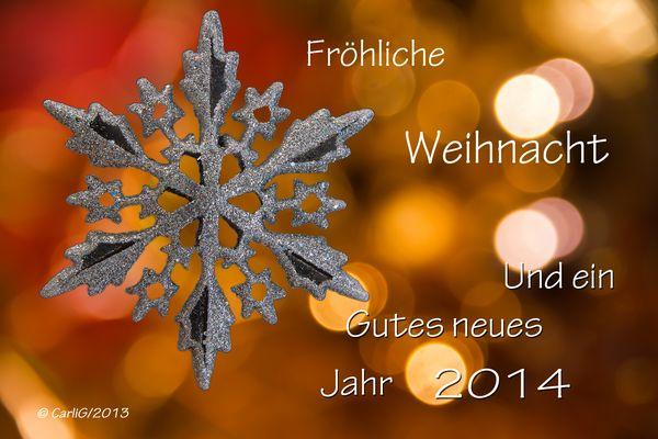 Schöne Weihnacht und ein gutes 2014....