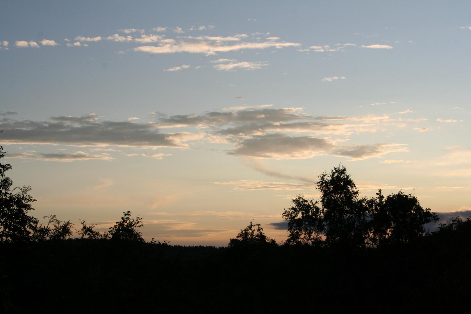Schöner Abendhimmel