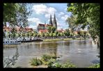 Schöner Blick auf den Regensburger Dom