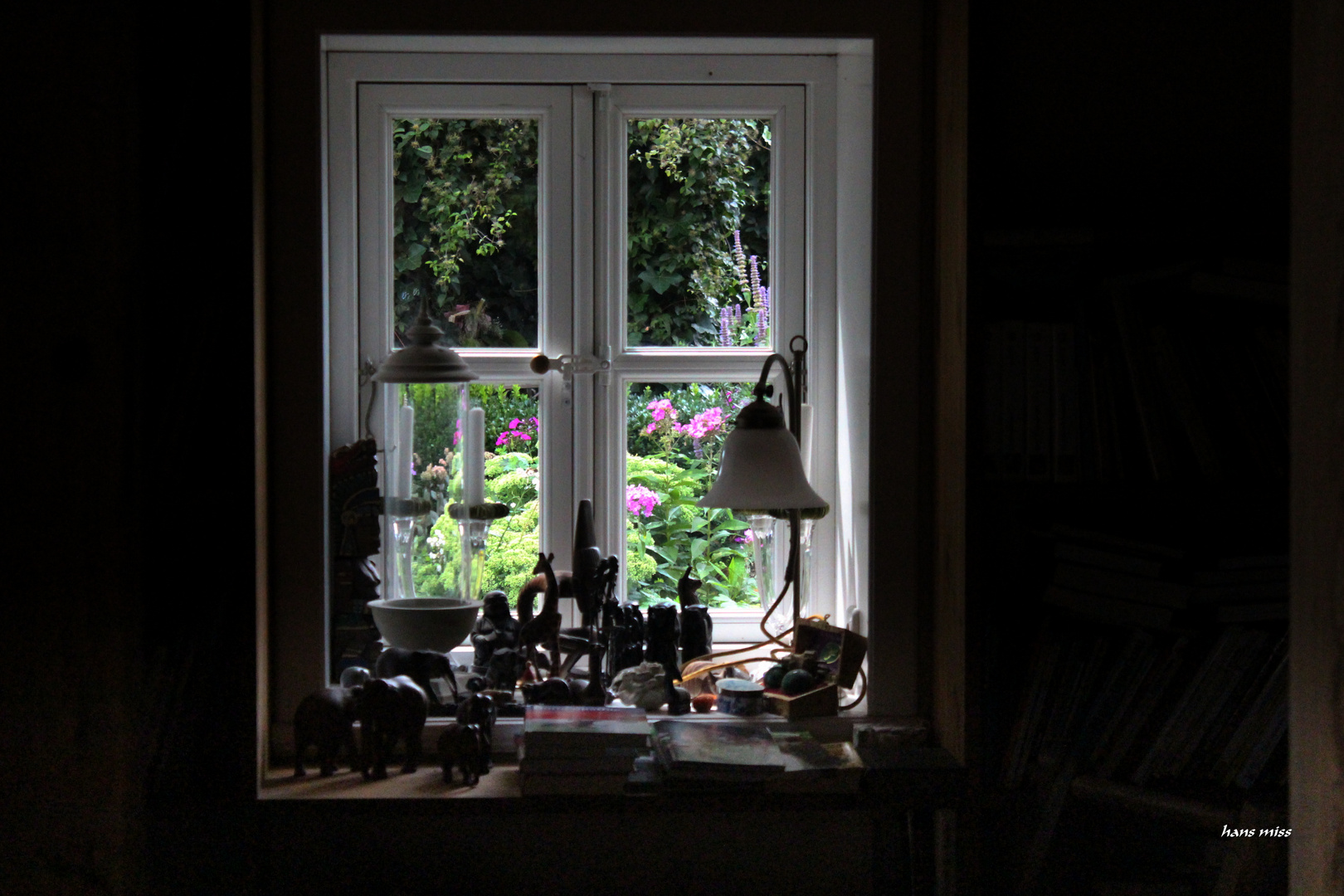 schöner Blick in den Garten