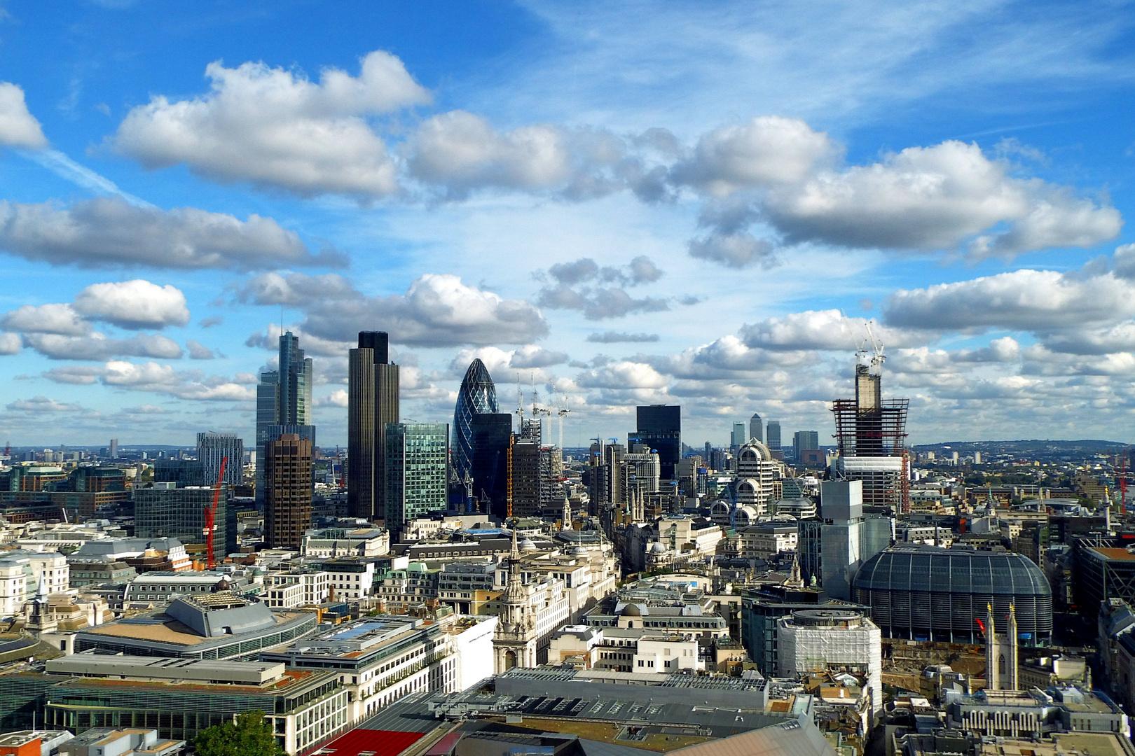 Schöner Blick über London