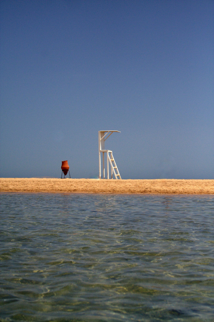 Schöner Strand in Hurghada am Roten Meer