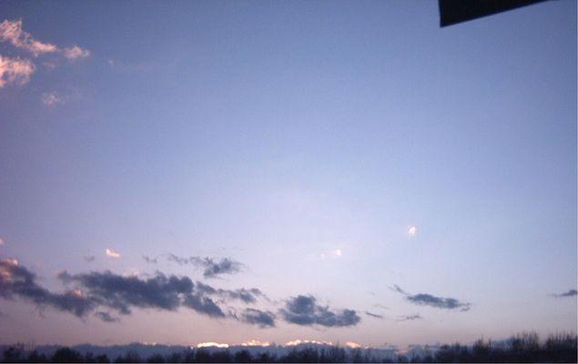 schöner Winterhimmel