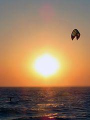 Schönes Amerika: Kite-Surfer auf Cape Cod