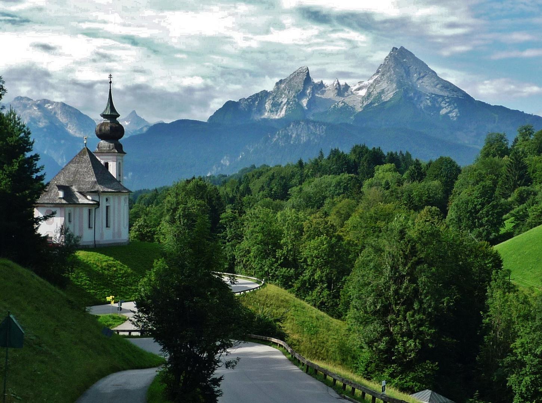 Schönes Berchtesgadener Land: Maria Gern gegen Watzmann