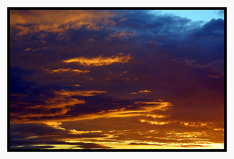 Schönes Farbenspiel am Himmel