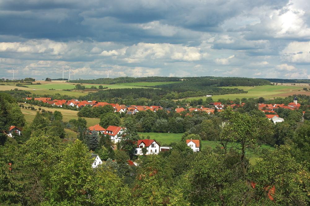 schönes kleines Dorf