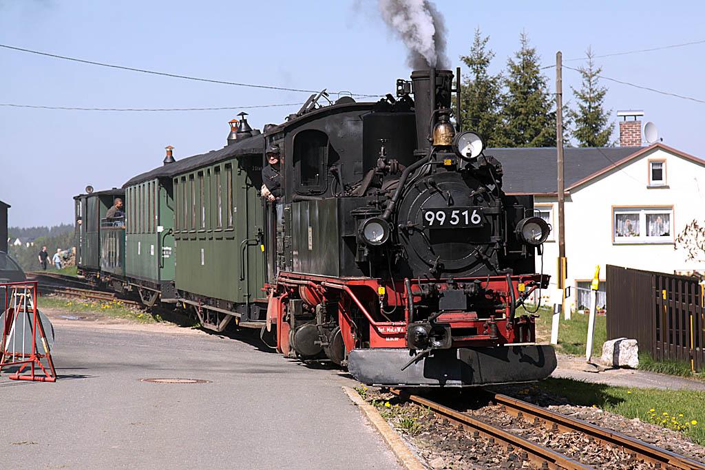 Schönheide, ankunft Lok 99.516