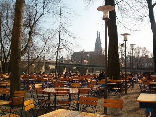 schönster Biergarten Regensburgs, wenn nicht gar weltweit