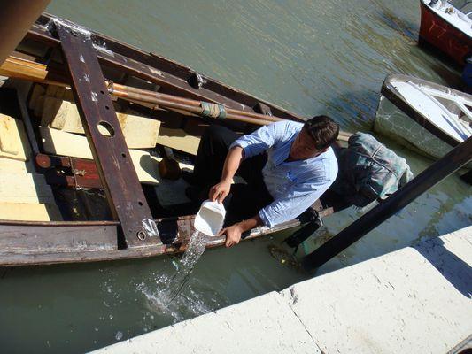 Schöpferischer Akt in Venedig