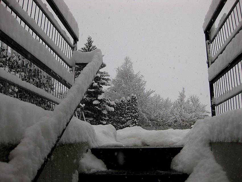 Schon wieder Schneefall...