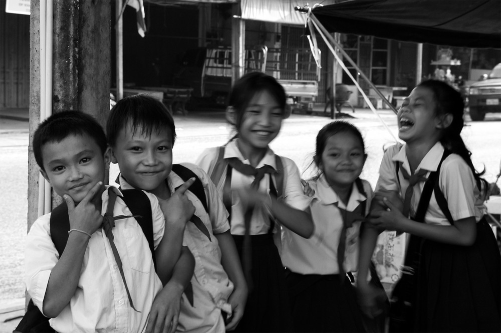 Schoolkids in Laos