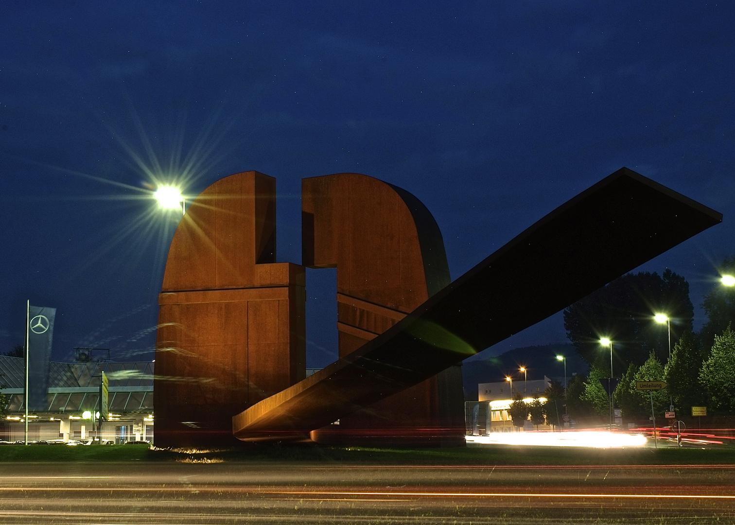 Schorndorf Tuscaloosa Platz bei Nacht