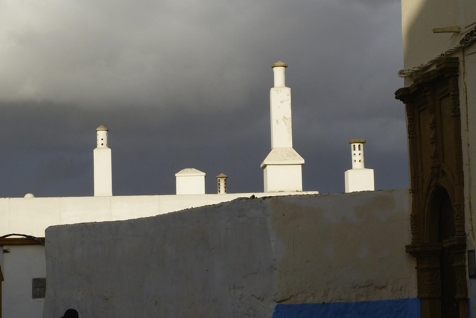 Schornsteine in der Medina v. Rabat