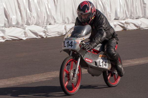 Schottenring 2012 - Hans-Günther Janke auf Kreidler 50 ccm.