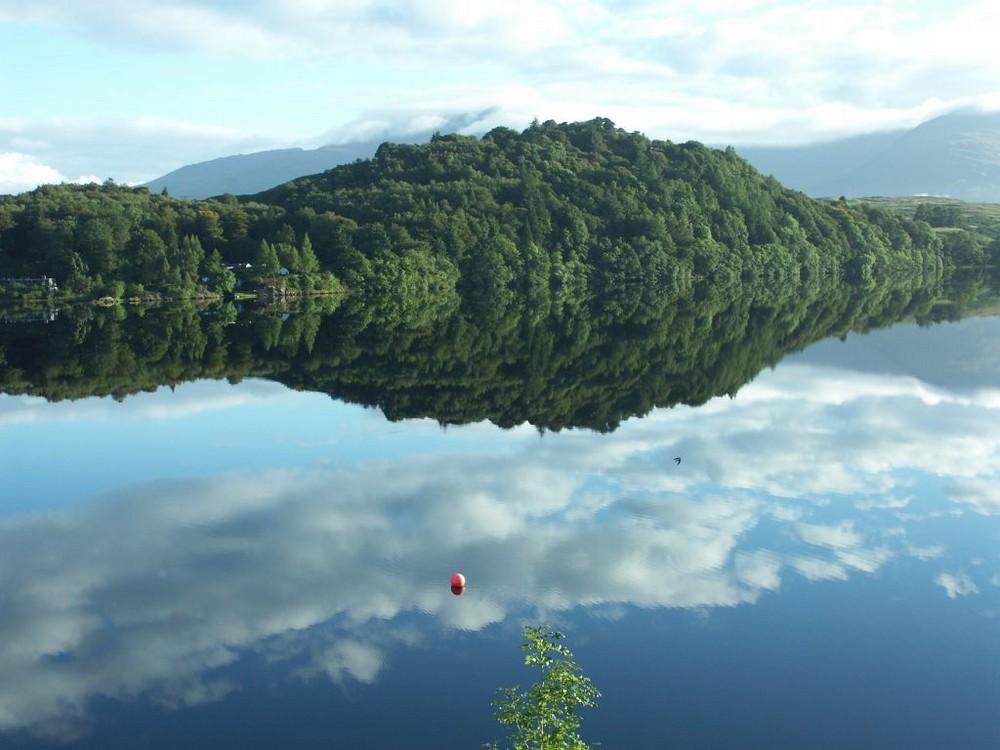 Schottland - Loch Awe - Spiegelung