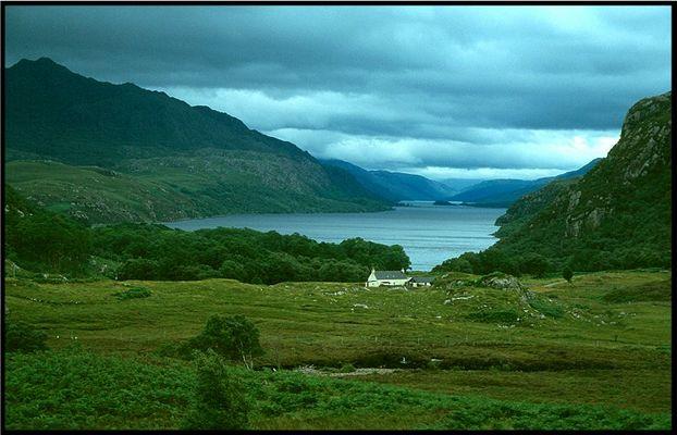 """Schottland - zwischen Poolewe und Gairloch, """"Sommer"""" 2001"""