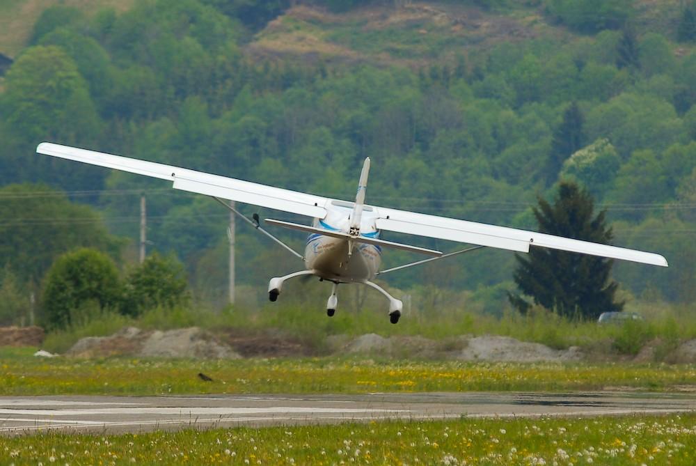 Schräge Landung