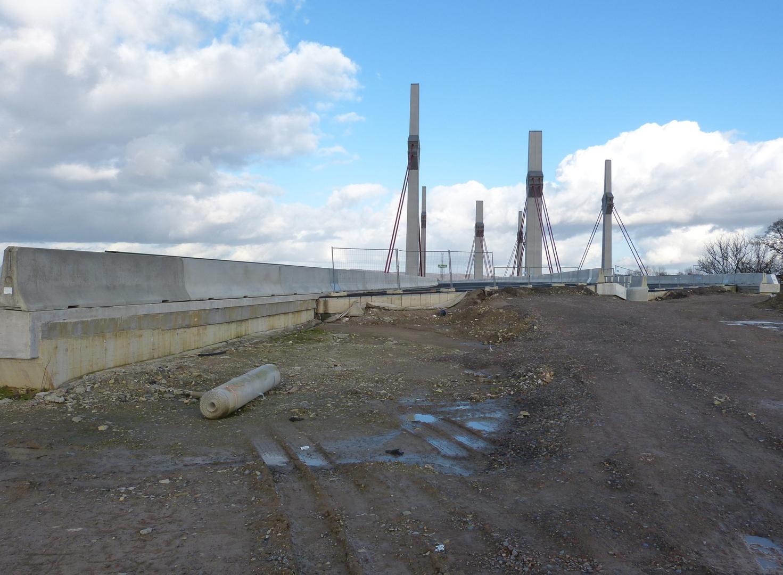 Schrägseilbrücke in Löhne