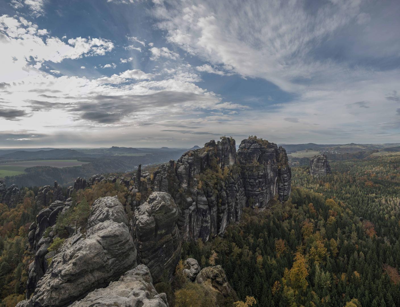 Schrammsteine im Elbsandsteingebirge 02
