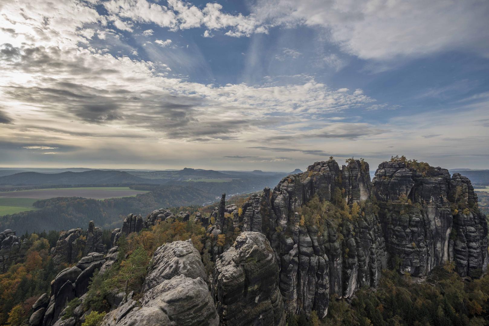 Schrammsteine im Elbsandsteingebirge