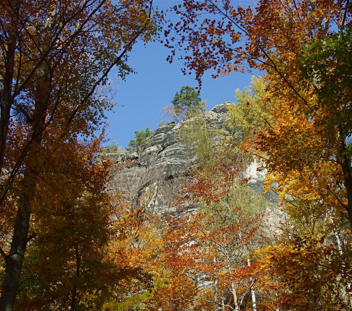 °°° Schrammsteine im Herbst - Ein wunderschöner Tag war das °°°