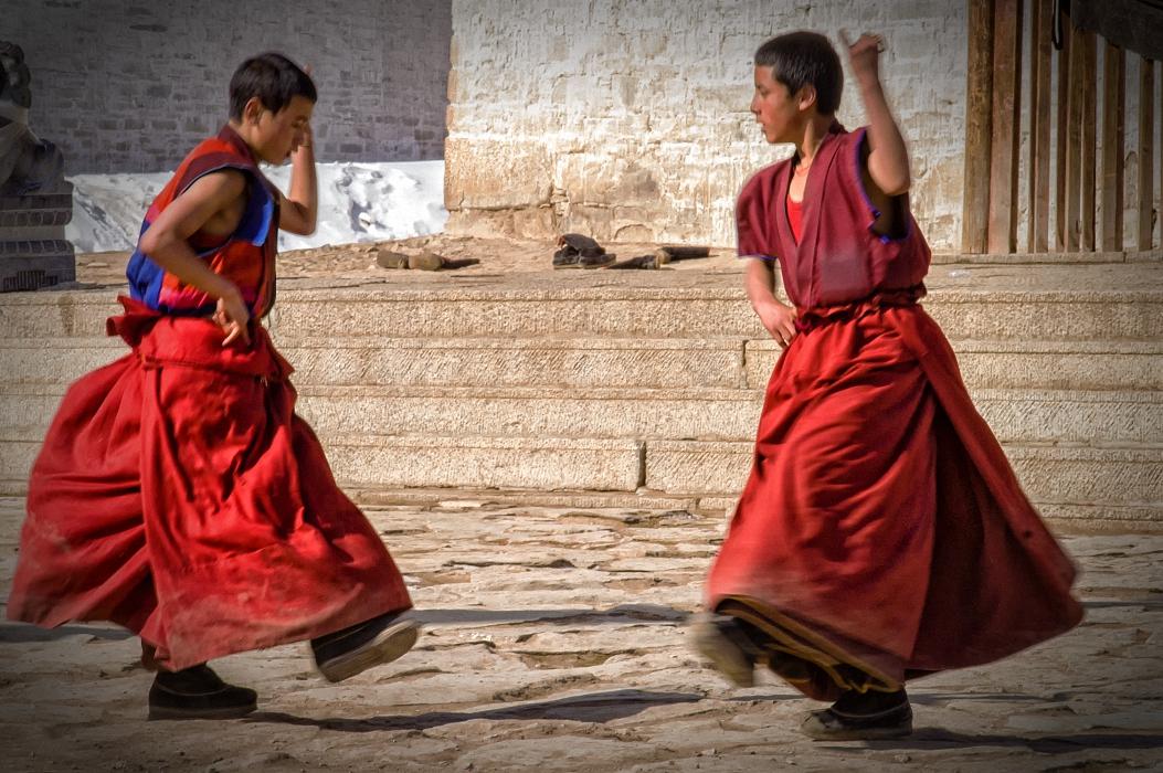 Schritte eines Tanzes