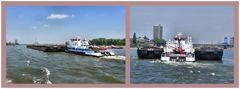 Schubschiff auf dem Rhein
