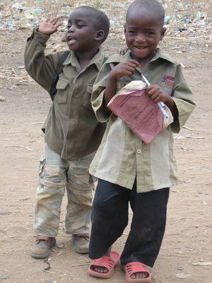 Schüler in Malawi