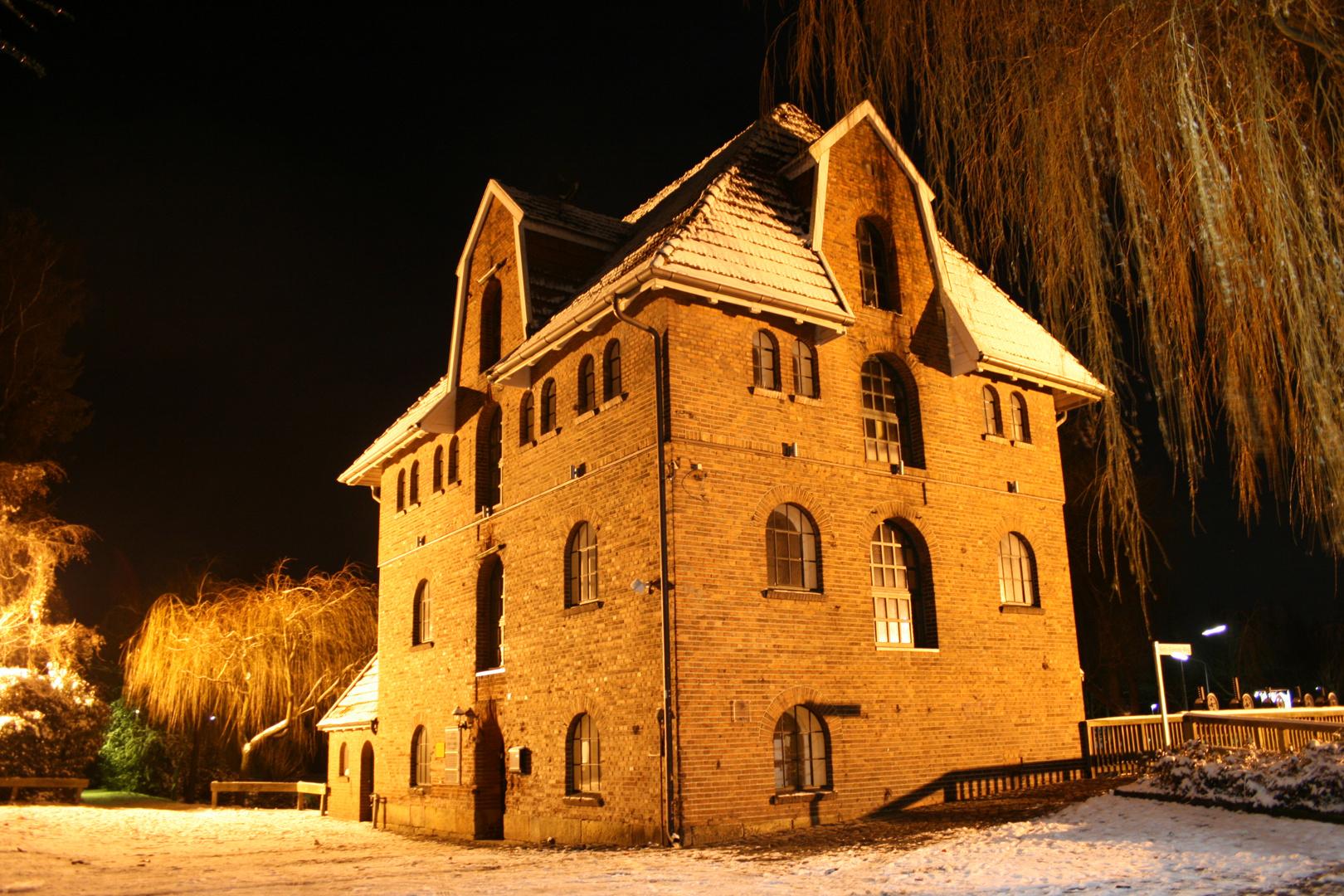 Schüttorfer Mühle bei Nacht