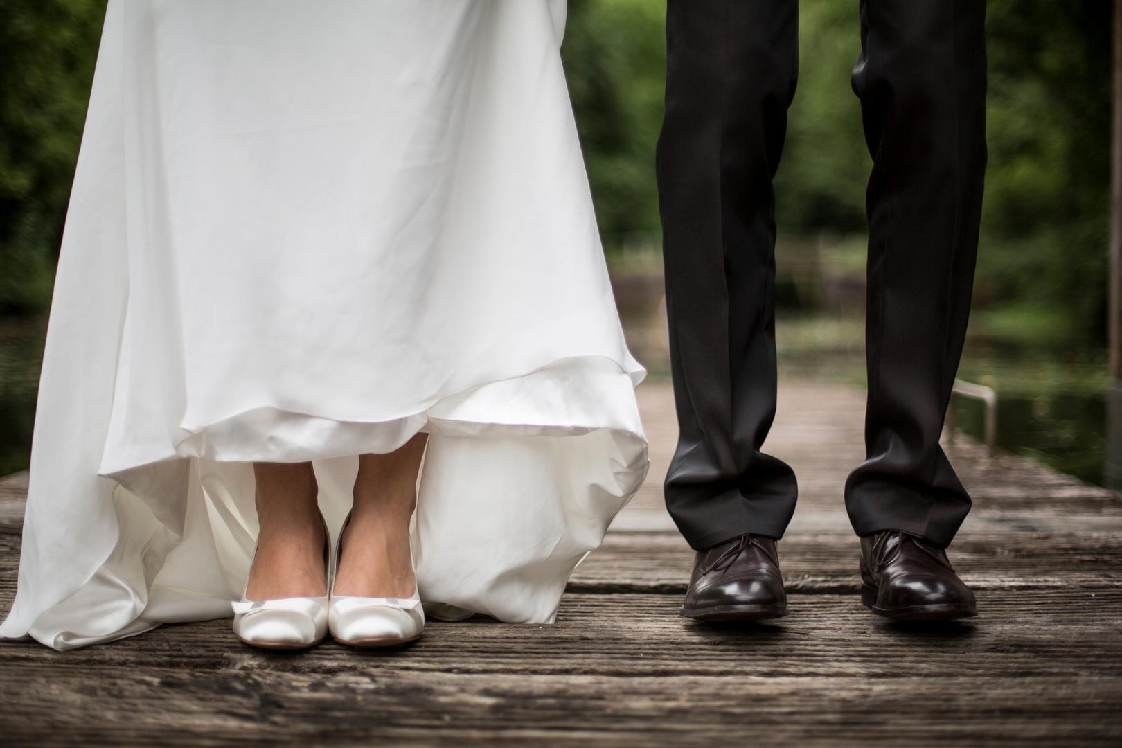 Schuh an Schuh